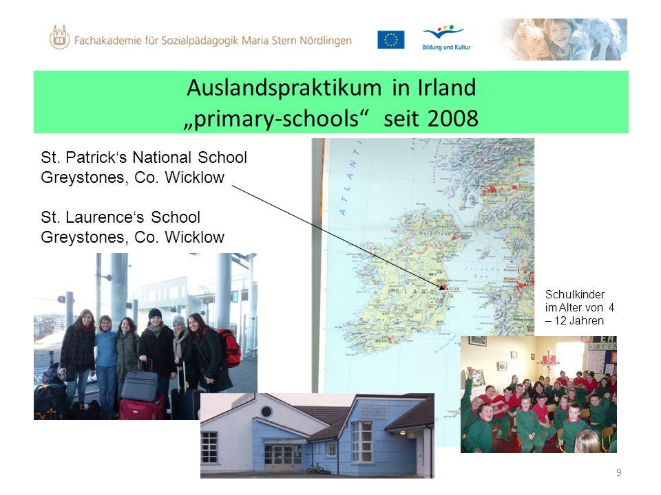 """Auslandspraktikum in Irland """"primary-schools seit 2008"""