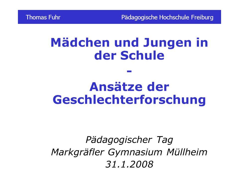 Thomas Fuhr Pädagogische Hochschule Freiburg
