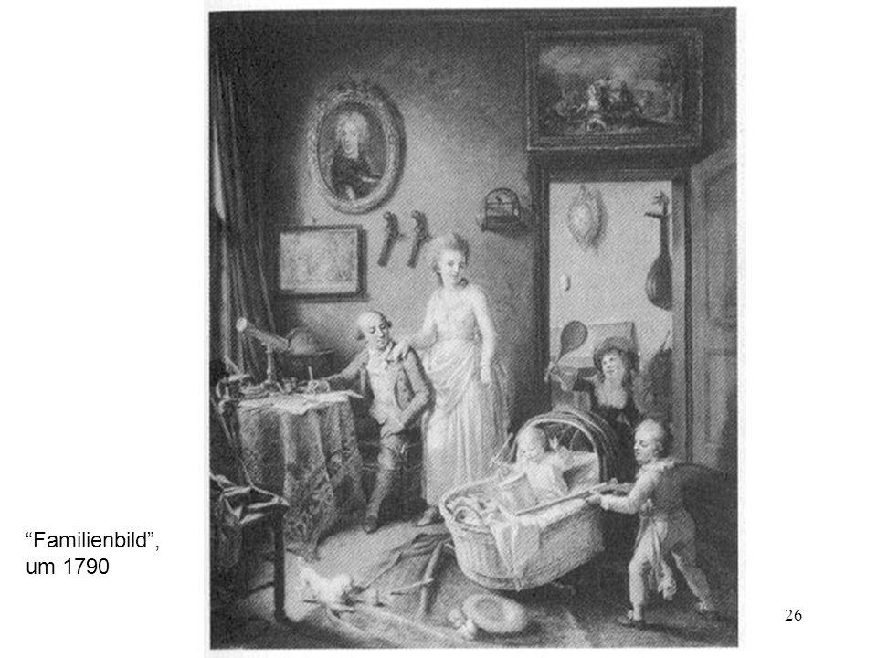 Familienbild , um 1790