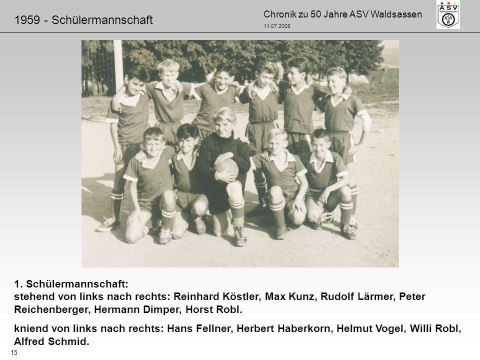 1959 - Schülermannschaft