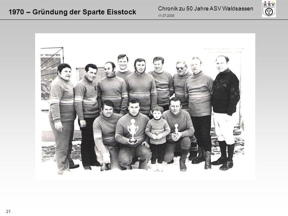 1970 – Gründung der Sparte Eisstock