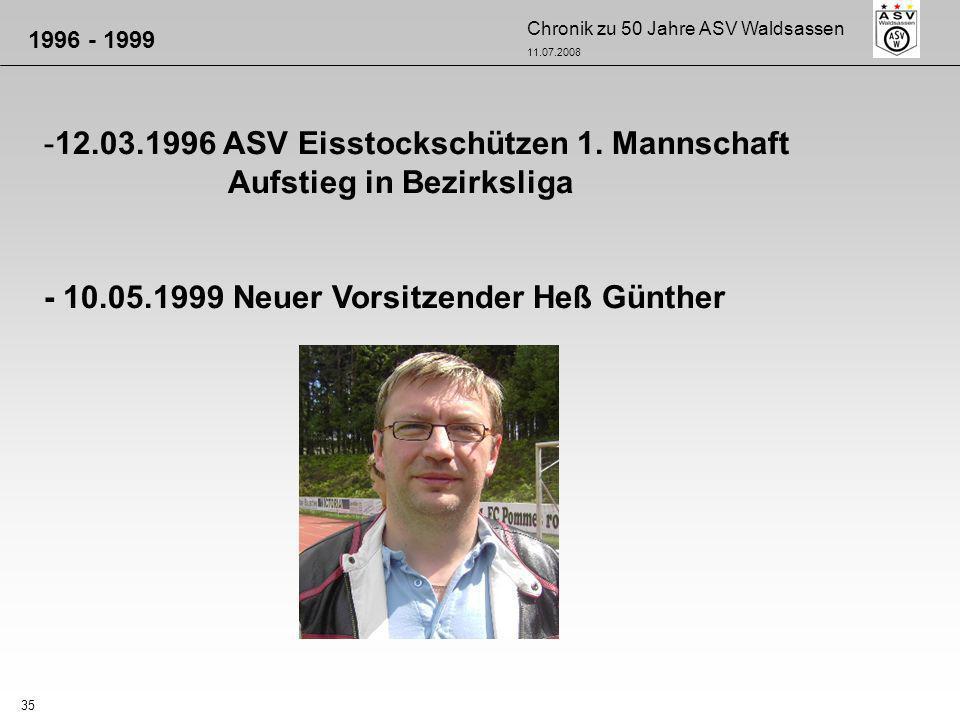 12.03.1996 ASV Eisstockschützen 1. Mannschaft Aufstieg in Bezirksliga