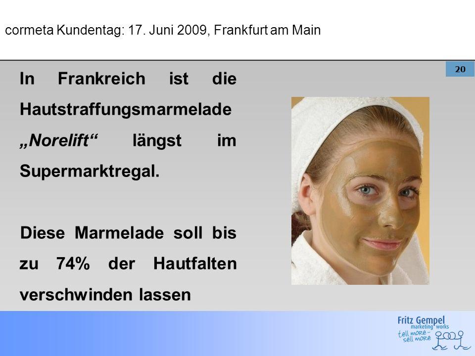 cormeta Kundentag: 17. Juni 2009, Frankfurt am Main