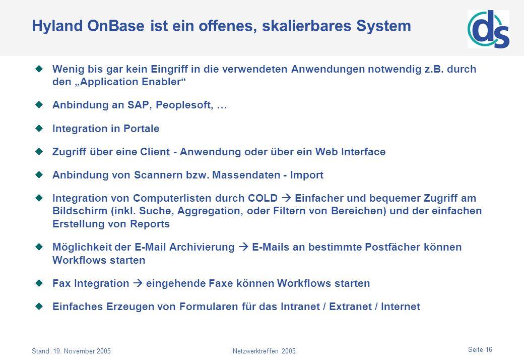Hyland OnBase ist ein offenes, skalierbares System