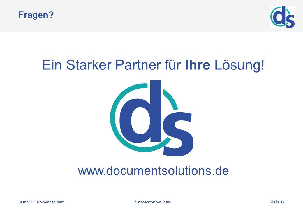Ein Starker Partner für Ihre Lösung!