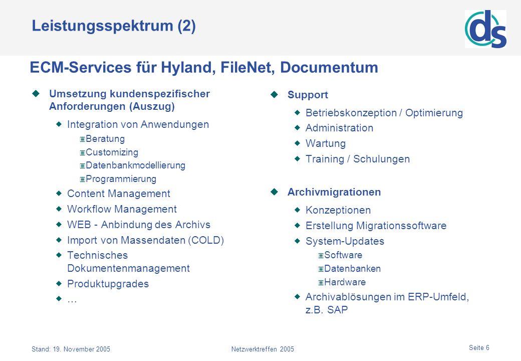 ECM-Services für Hyland, FileNet, Documentum