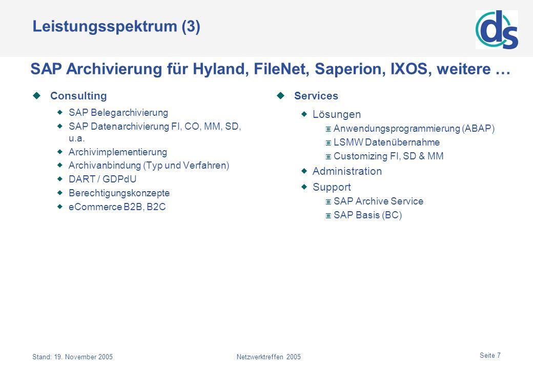 SAP Archivierung für Hyland, FileNet, Saperion, IXOS, weitere …