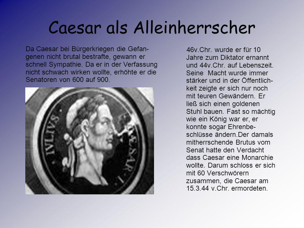 Caesar als Alleinherrscher