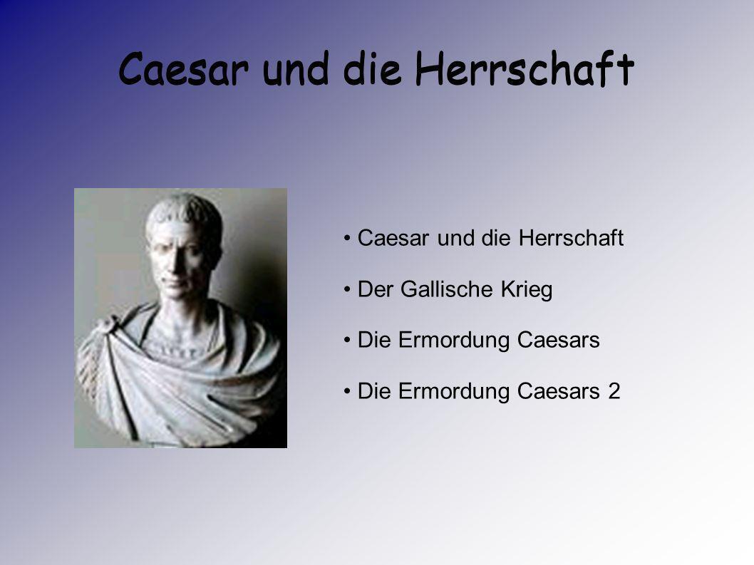 Caesar und die Herrschaft