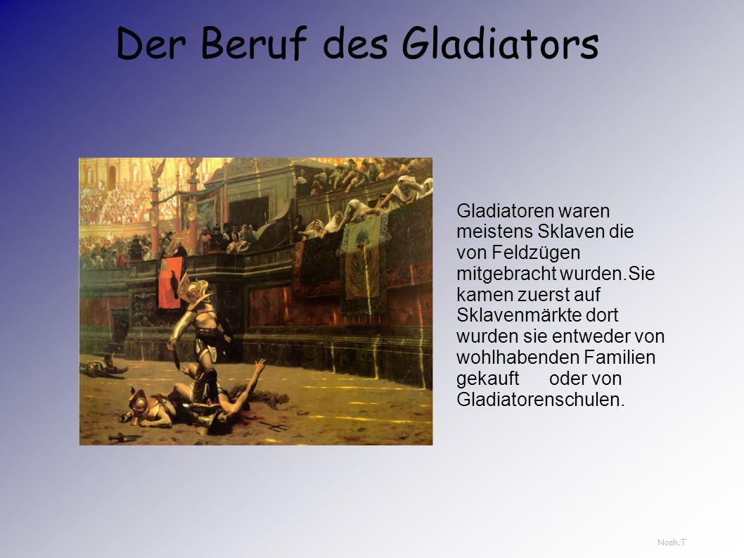 Der Beruf des Gladiators