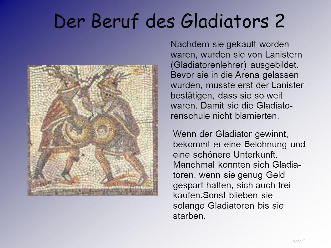 Der Beruf des Gladiators 2