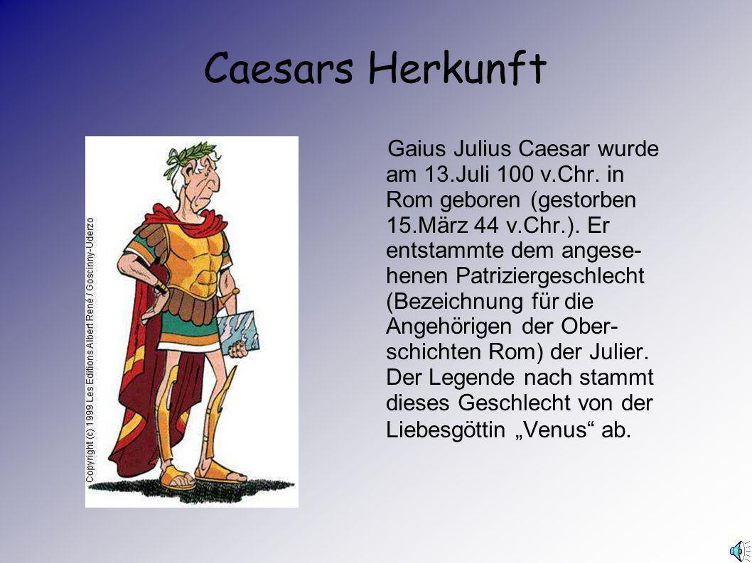 Caesars Herkunft