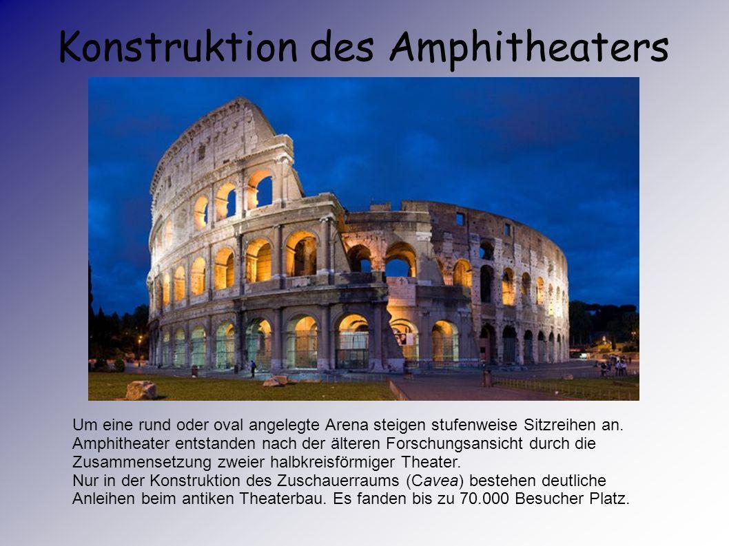 Konstruktion des Amphitheaters