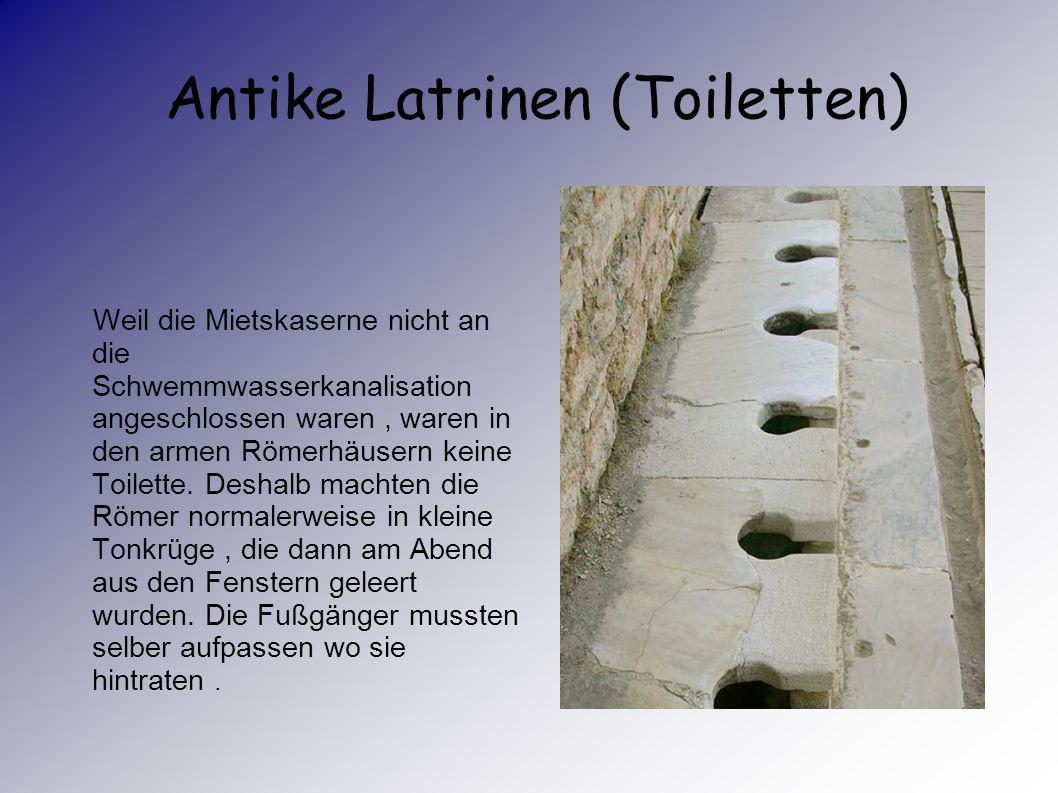 Antike Latrinen (Toiletten)