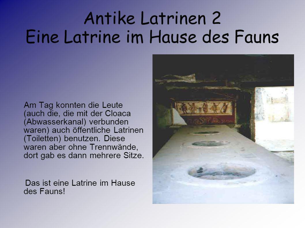 Antike Latrinen 2 Eine Latrine im Hause des Fauns