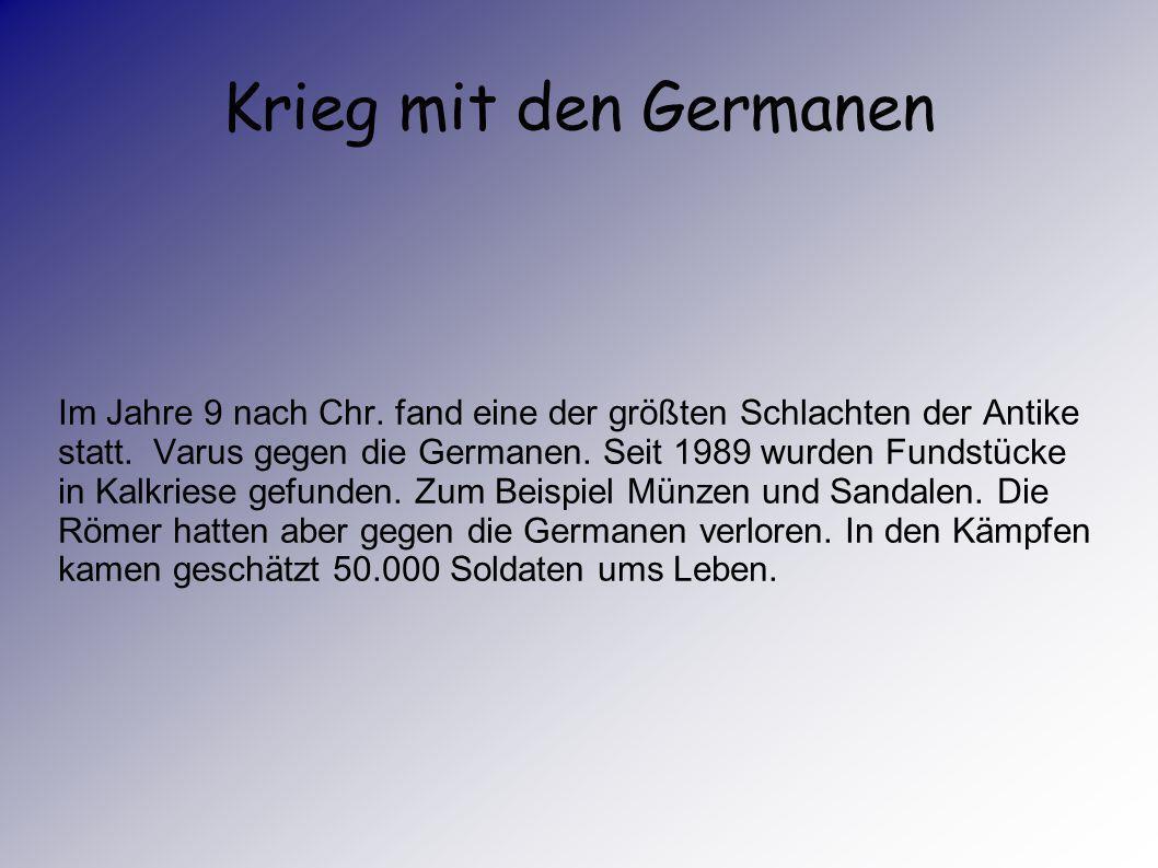 Krieg mit den Germanen