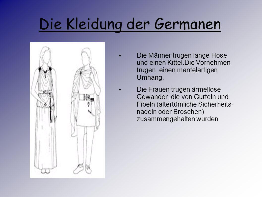 Die Kleidung der Germanen