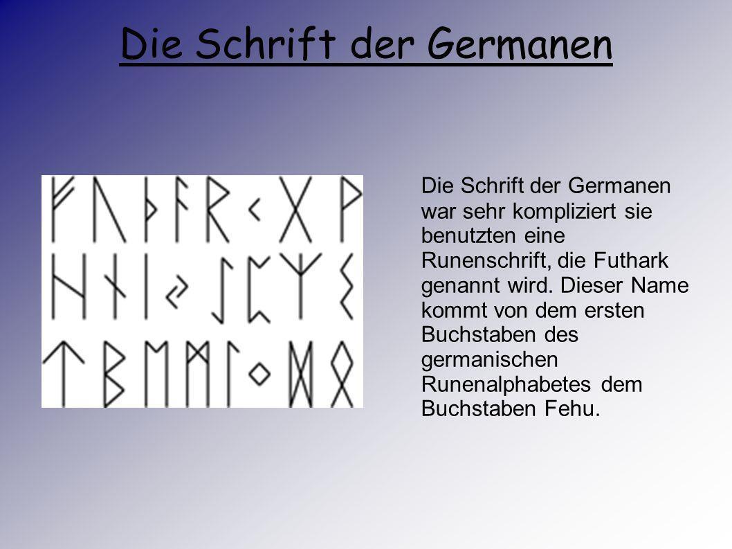 Die Schrift der Germanen