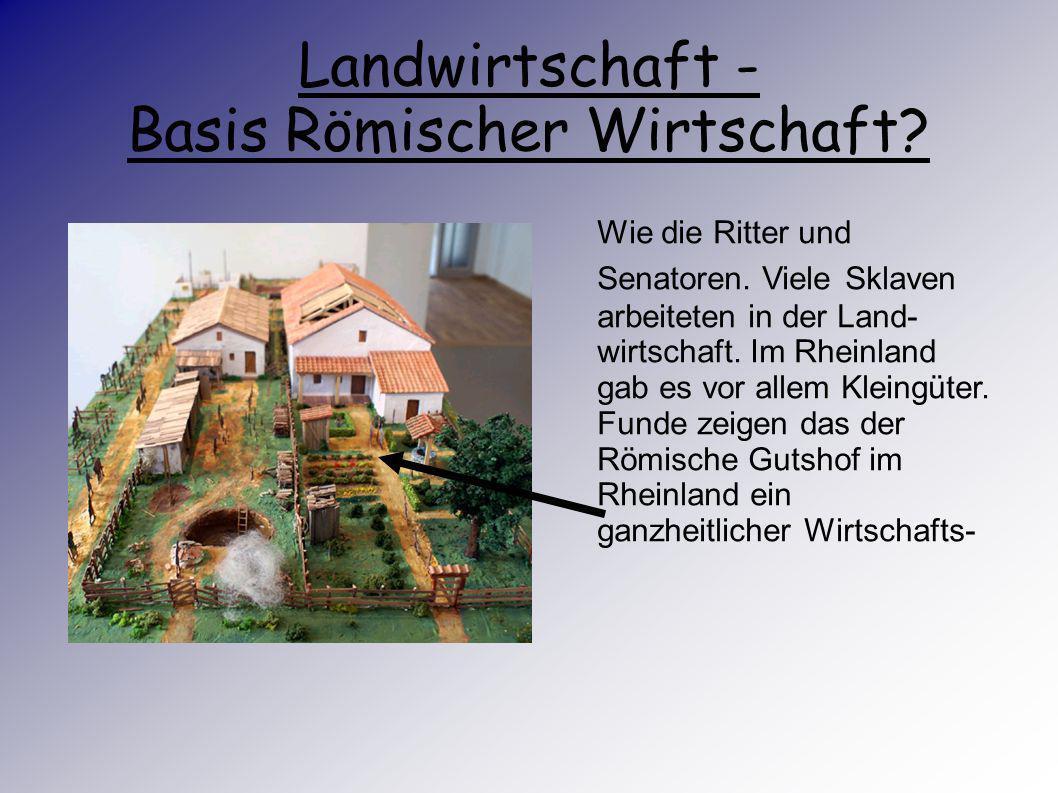 Landwirtschaft - Basis Römischer Wirtschaft