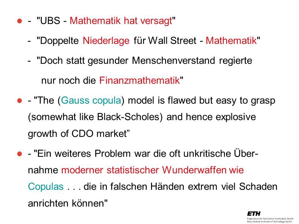 - UBS - Mathematik hat versagt