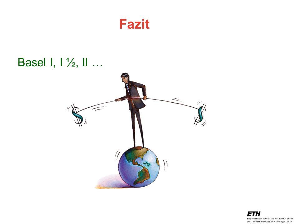 Fazit Basel I, I ½, II …