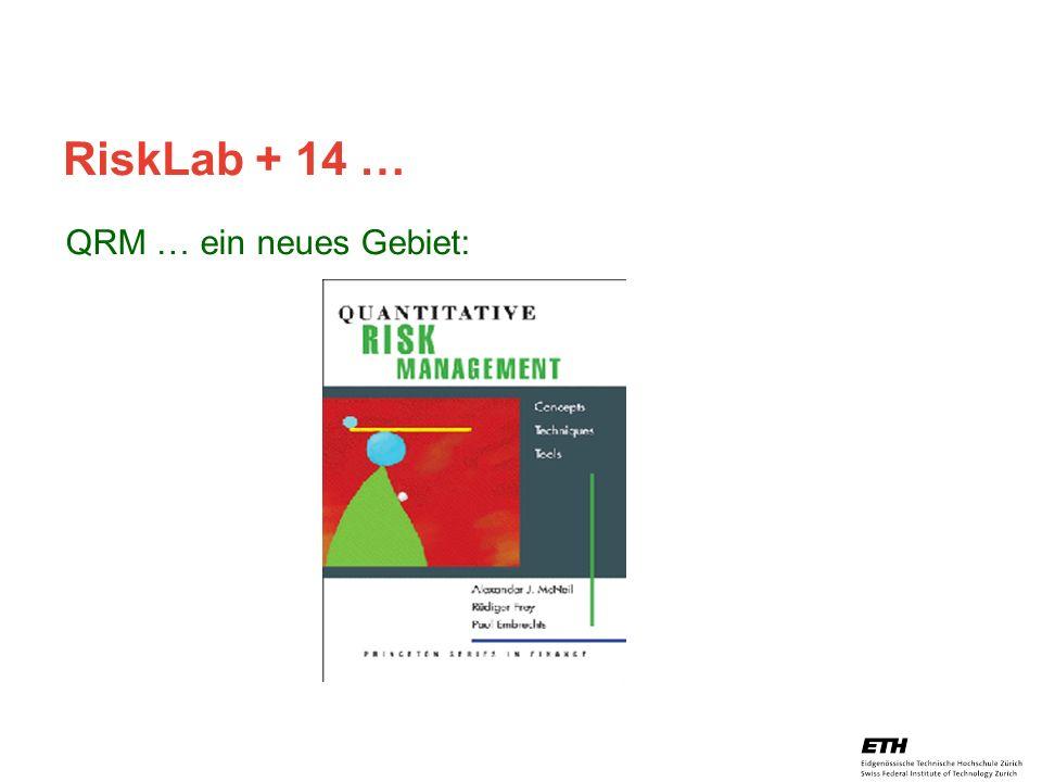 RiskLab + 14 … QRM … ein neues Gebiet: