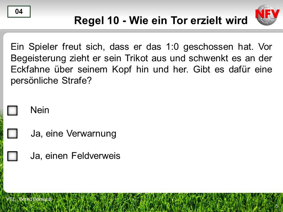 Regel 10 - Wie ein Tor erzielt wird