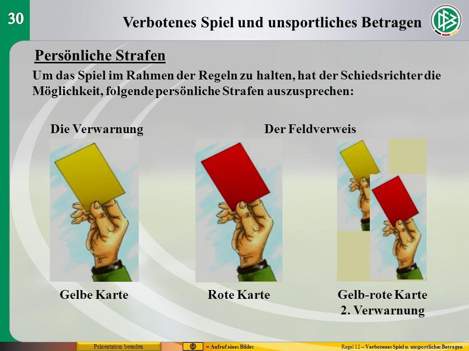 Gelb-rote Karte 2. Verwarnung