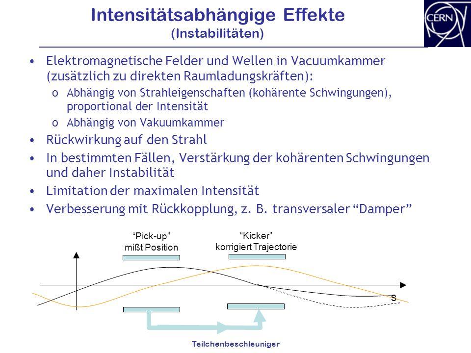 Intensitätsabhängige Effekte (Instabilitäten)