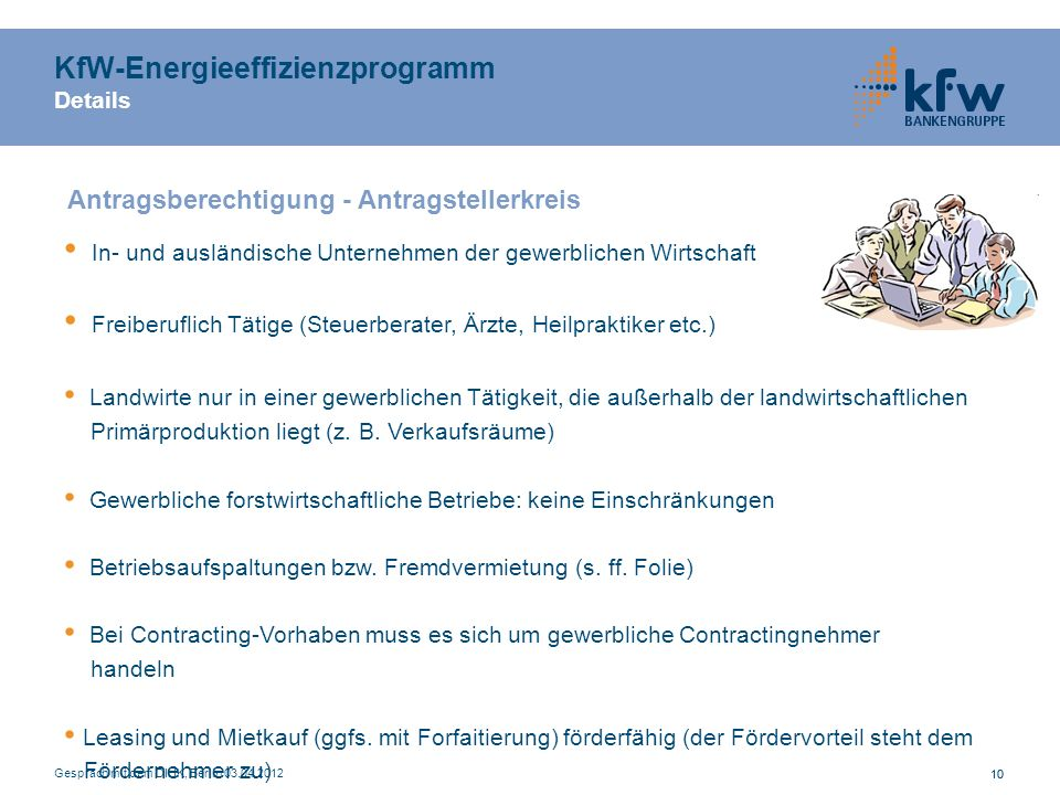 KfW-Energieeffizienzprogramm Details