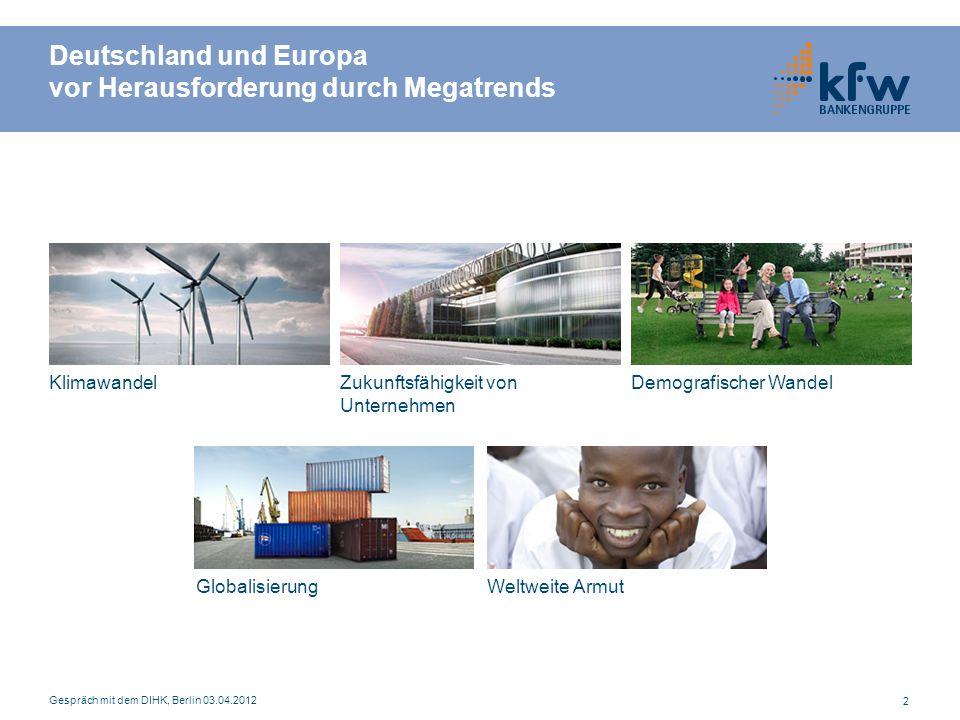 Deutschland und Europa vor Herausforderung durch Megatrends