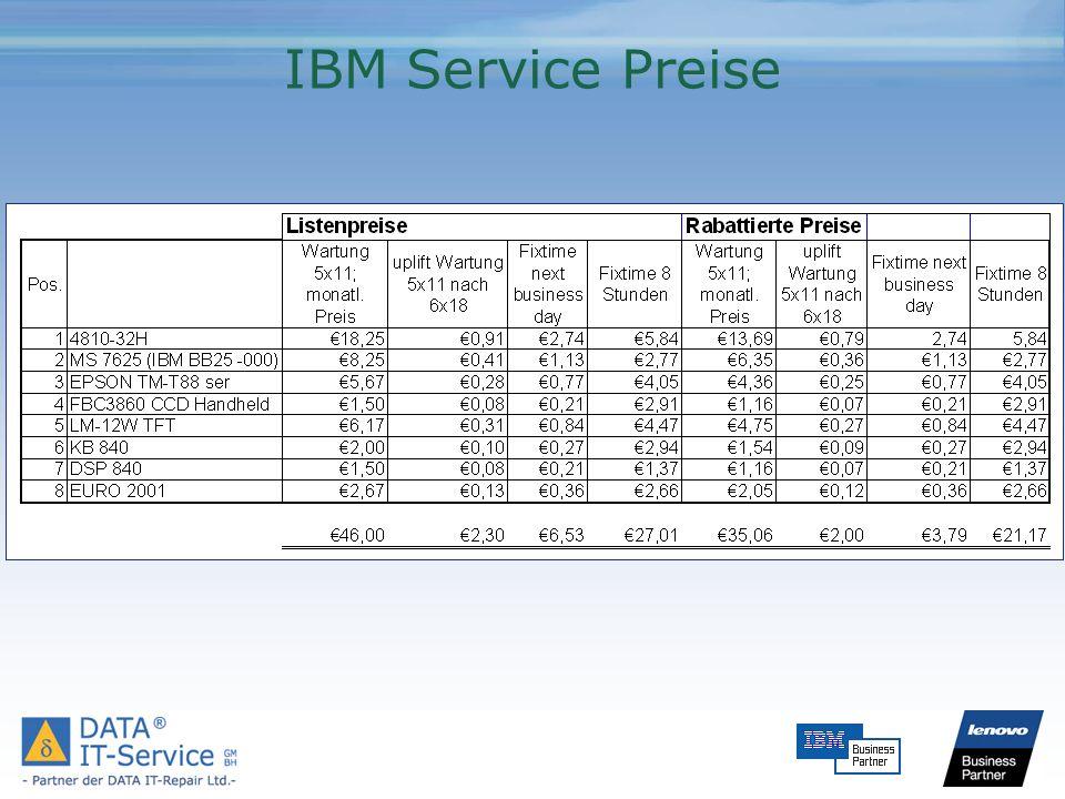 IBM Service Preise