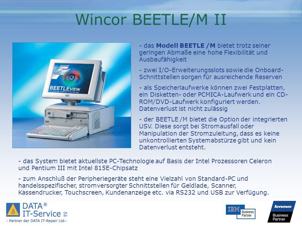 Wincor BEETLE/M II - das Modell BEETLE /M bietet trotz seiner geringen Abmaße eine hohe Flexibilität und Ausbaufähigkeit.