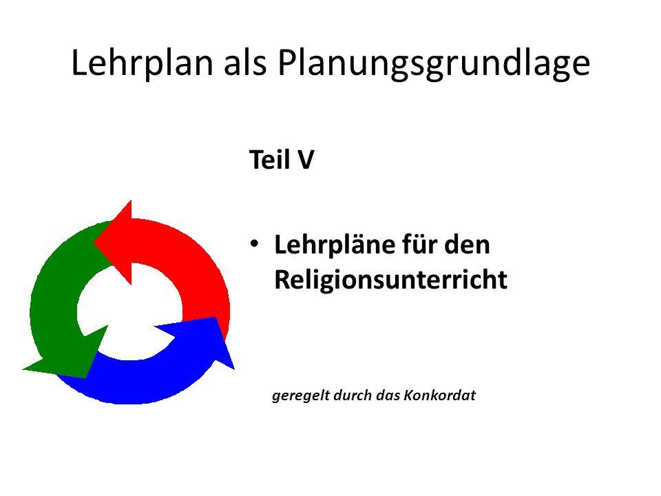Lehrplan als Planungsgrundlage
