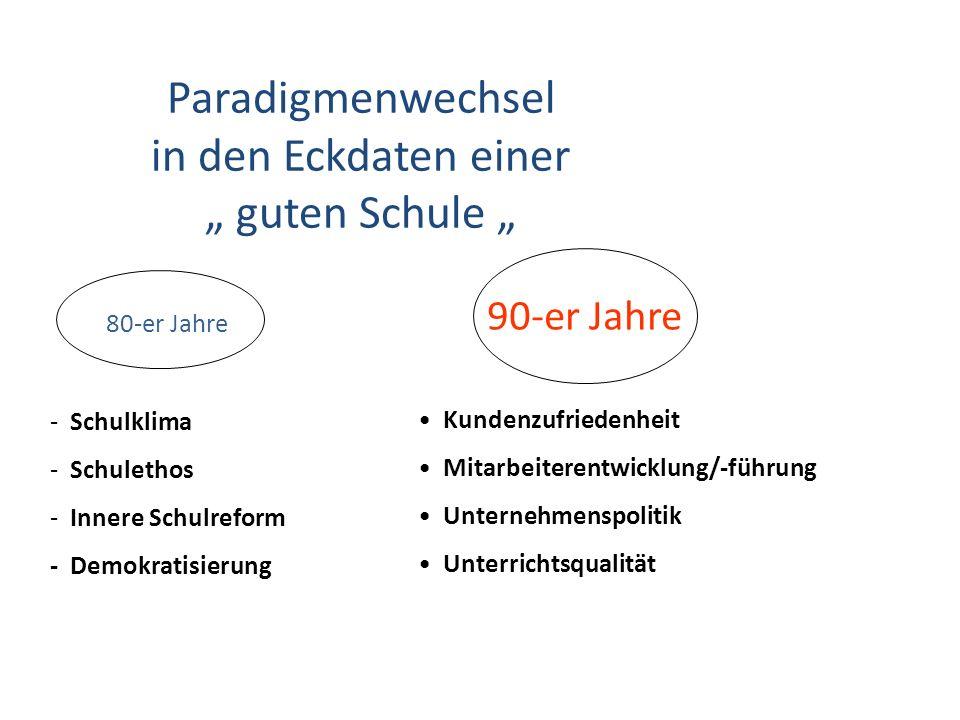 "Paradigmenwechsel in den Eckdaten einer "" guten Schule """