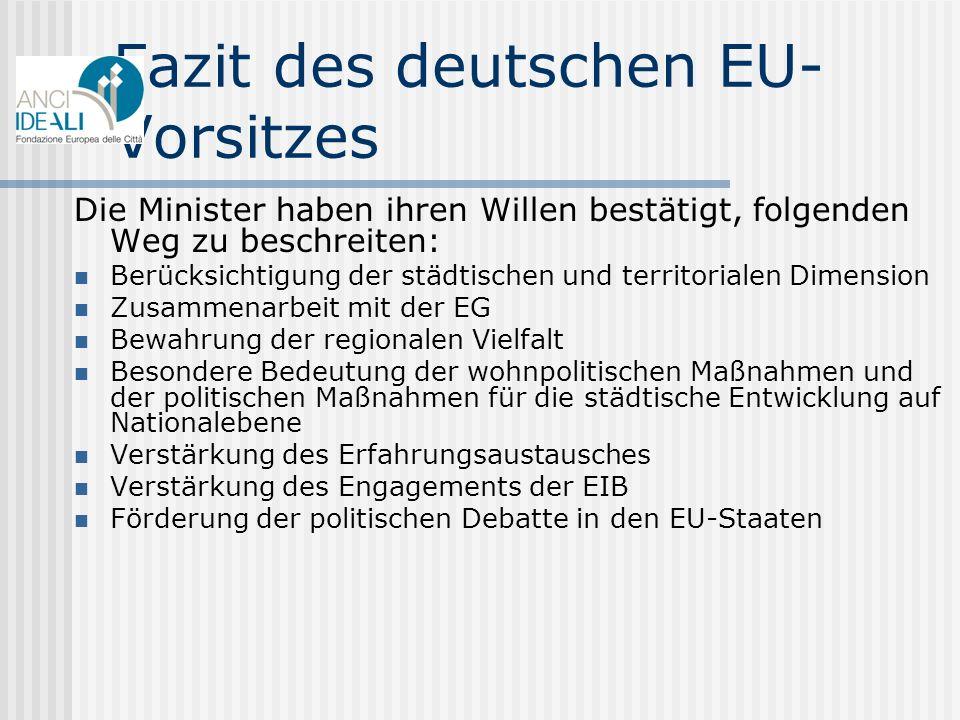 Fazit des deutschen EU-Vorsitzes