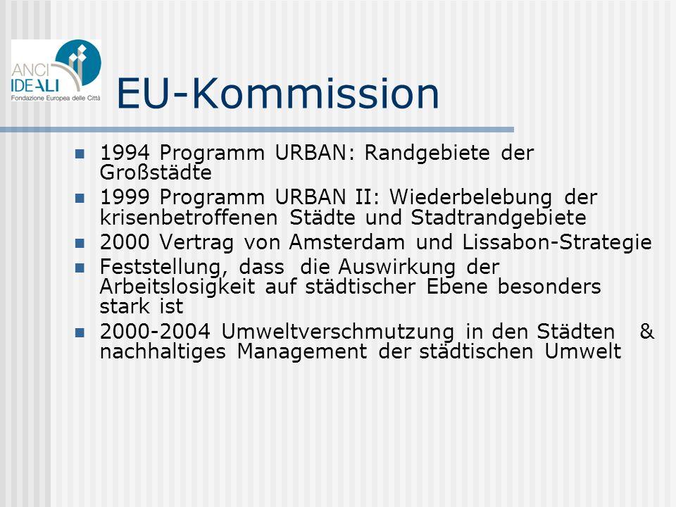 EU-Kommission 1994 Programm URBAN: Randgebiete der Großstädte
