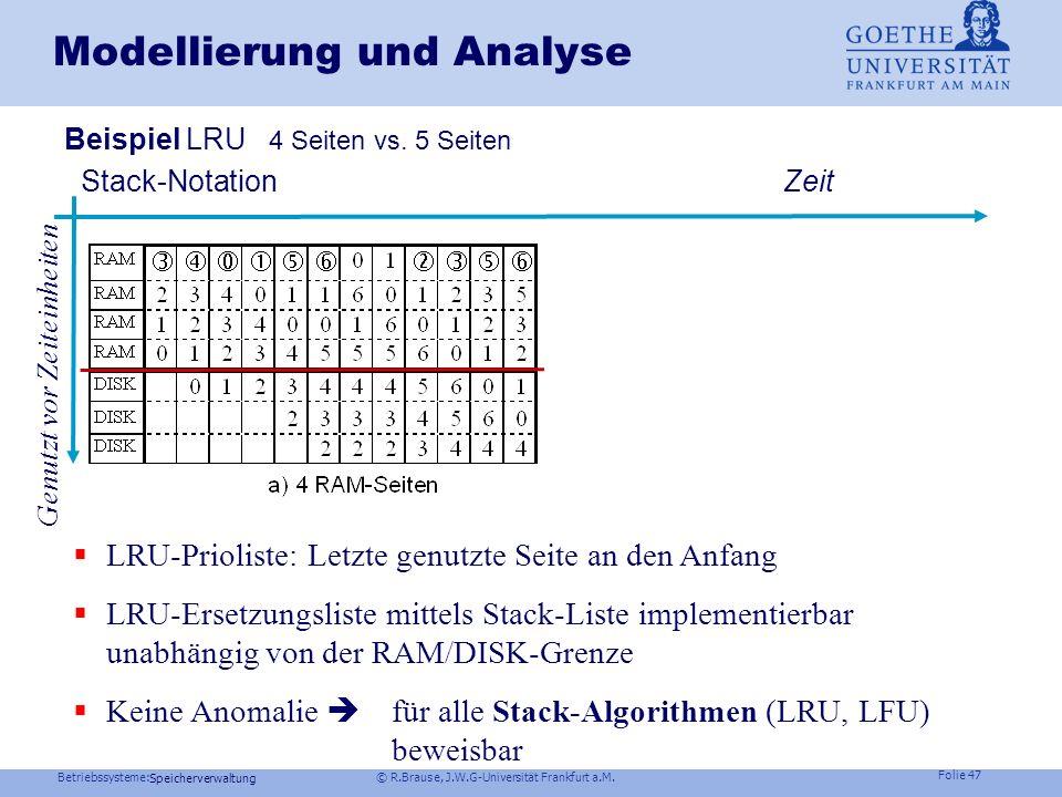 Modellierung und Analyse
