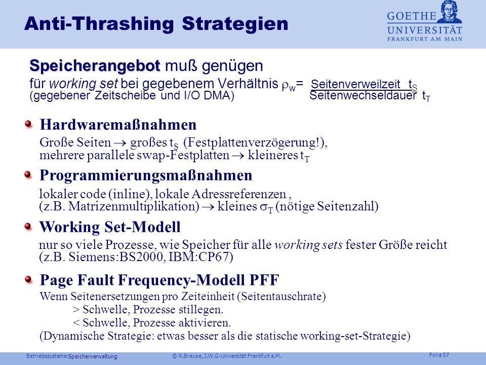 Anti-Thrashing Strategien