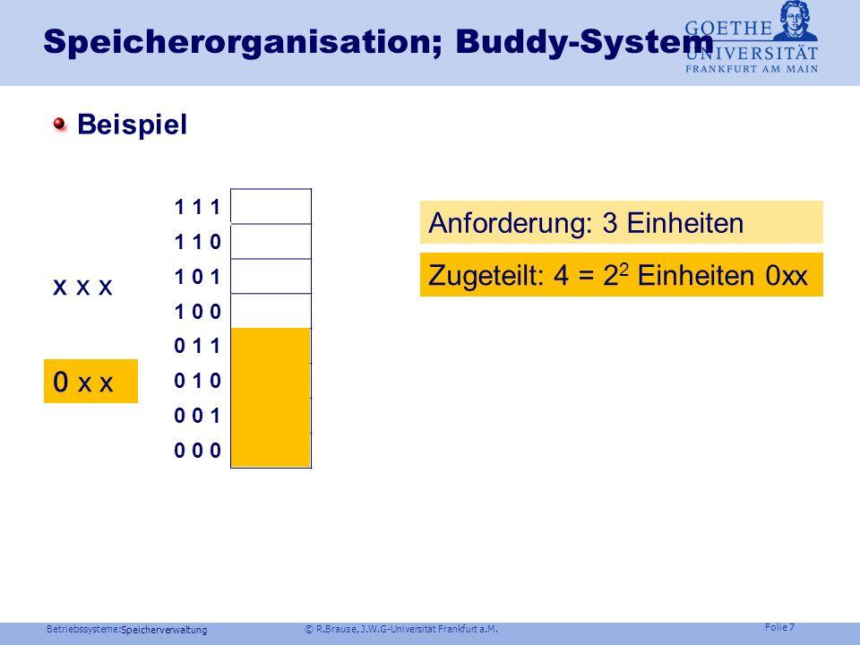 Speicherorganisation; Buddy-System