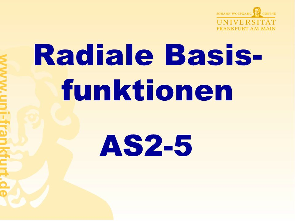 Radiale Basis-funktionen