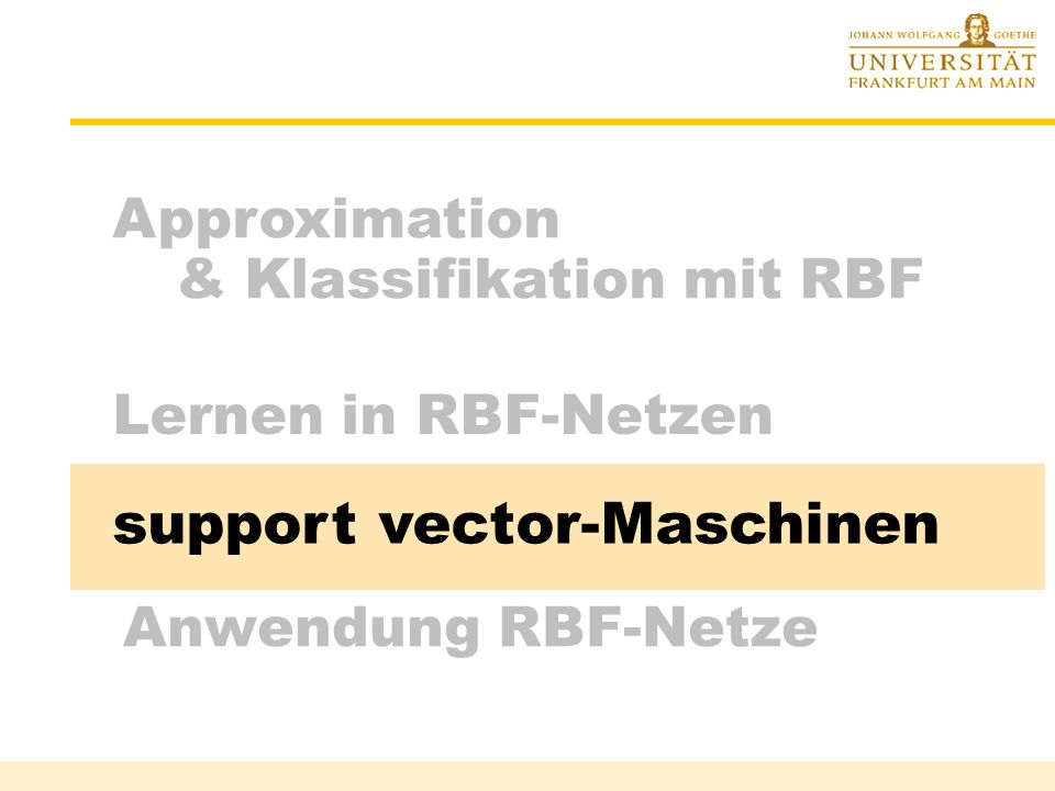 support vector-Maschinen