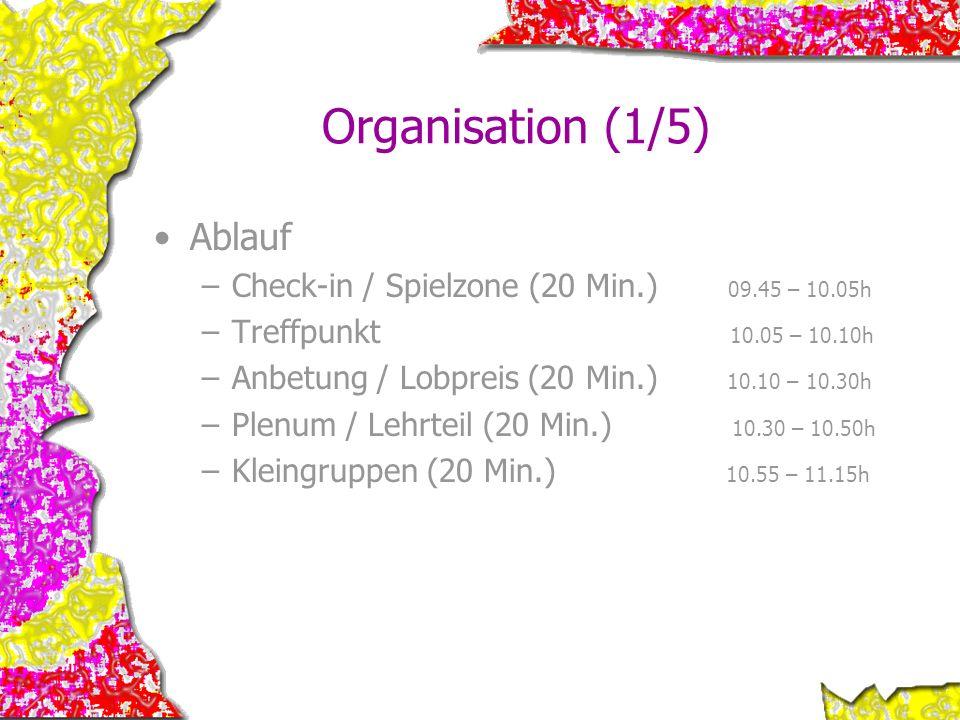 Organisation (1/5) Ablauf