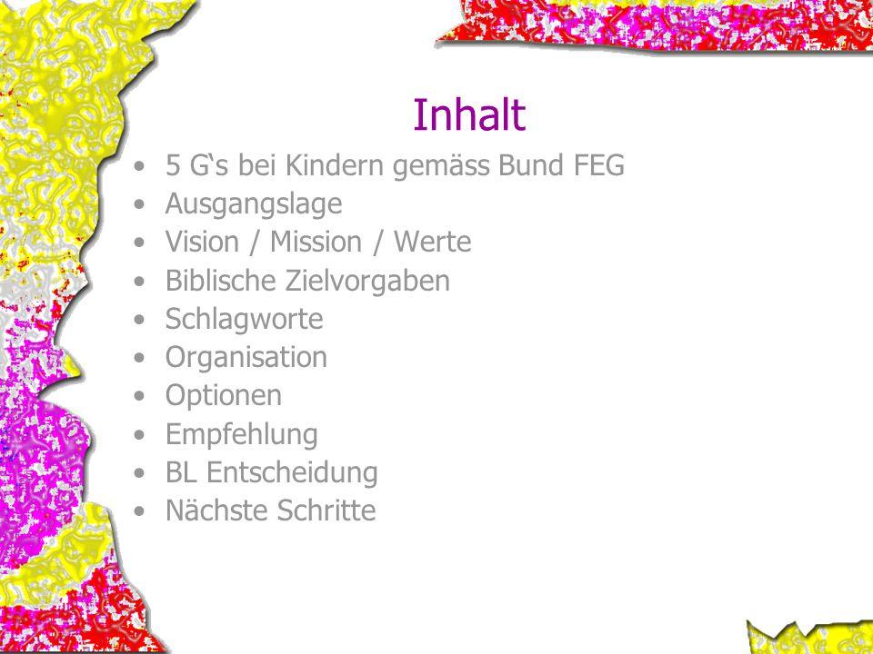 Inhalt 5 G's bei Kindern gemäss Bund FEG Ausgangslage