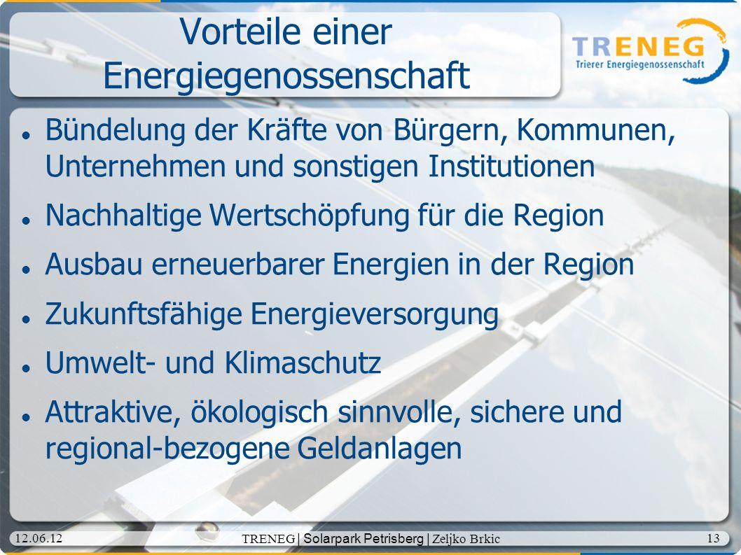 Vorteile einer Energiegenossenschaft