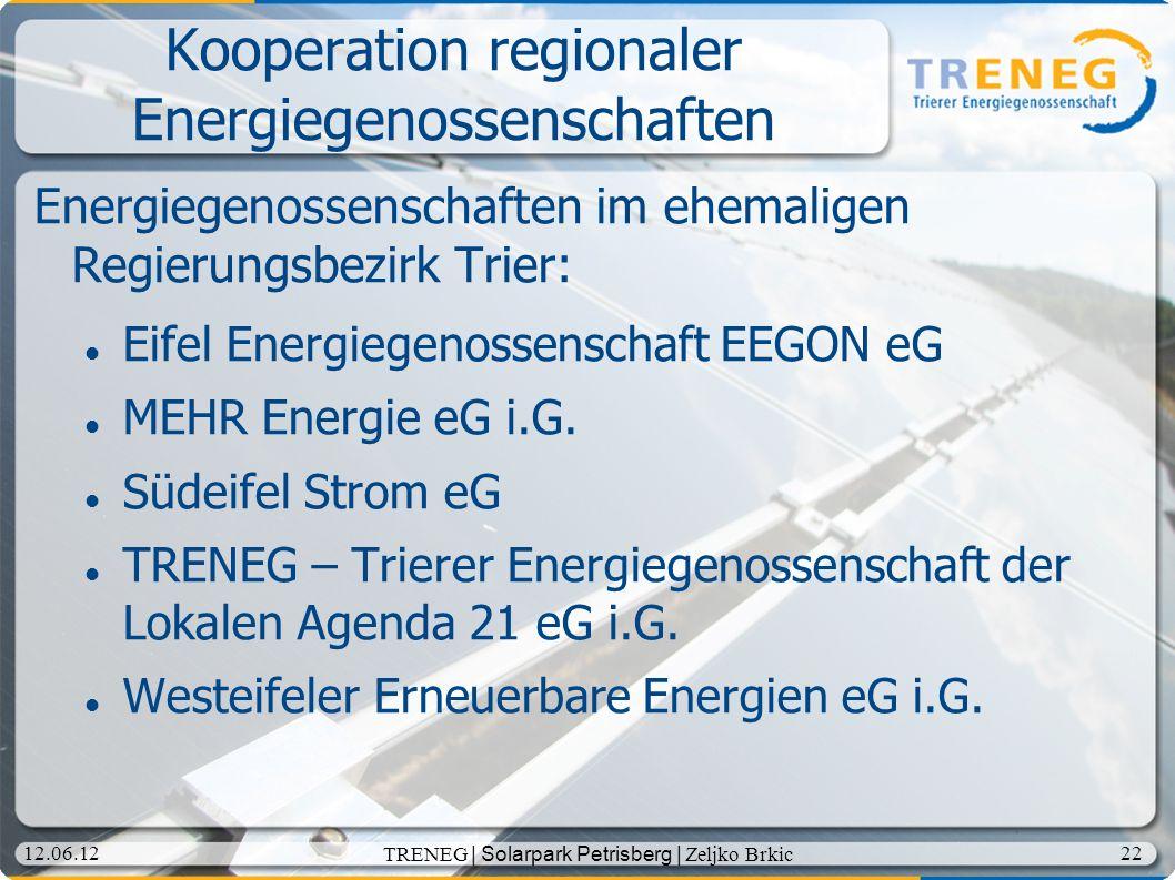 Kooperation regionaler Energiegenossenschaften