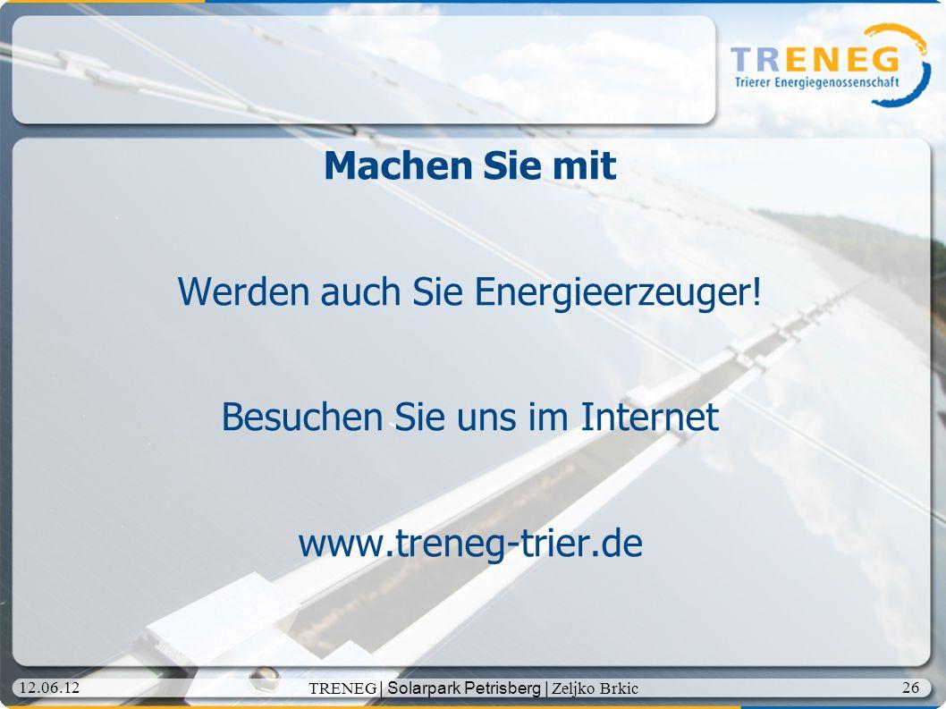 Werden auch Sie Energieerzeuger!