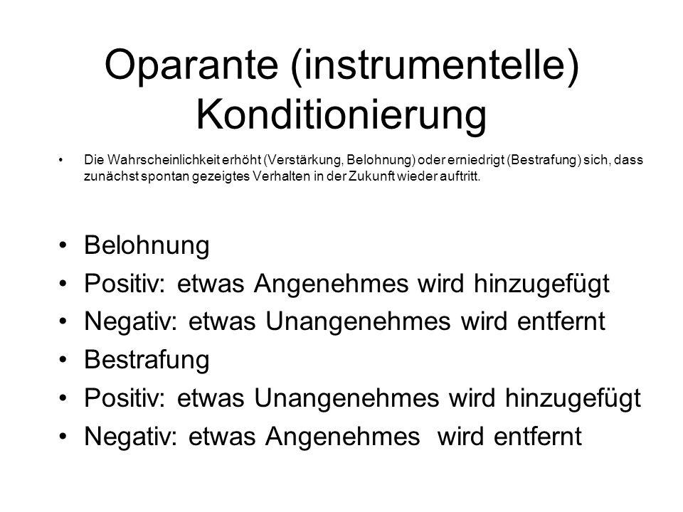Oparante (instrumentelle) Konditionierung