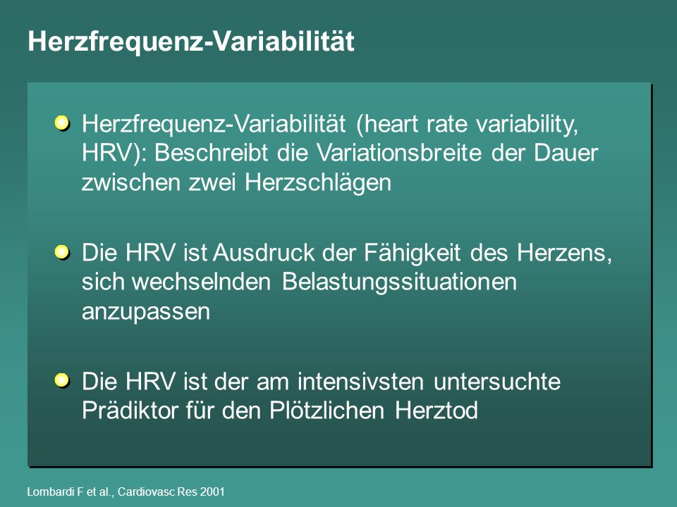 Herzfrequenz-Variabilität