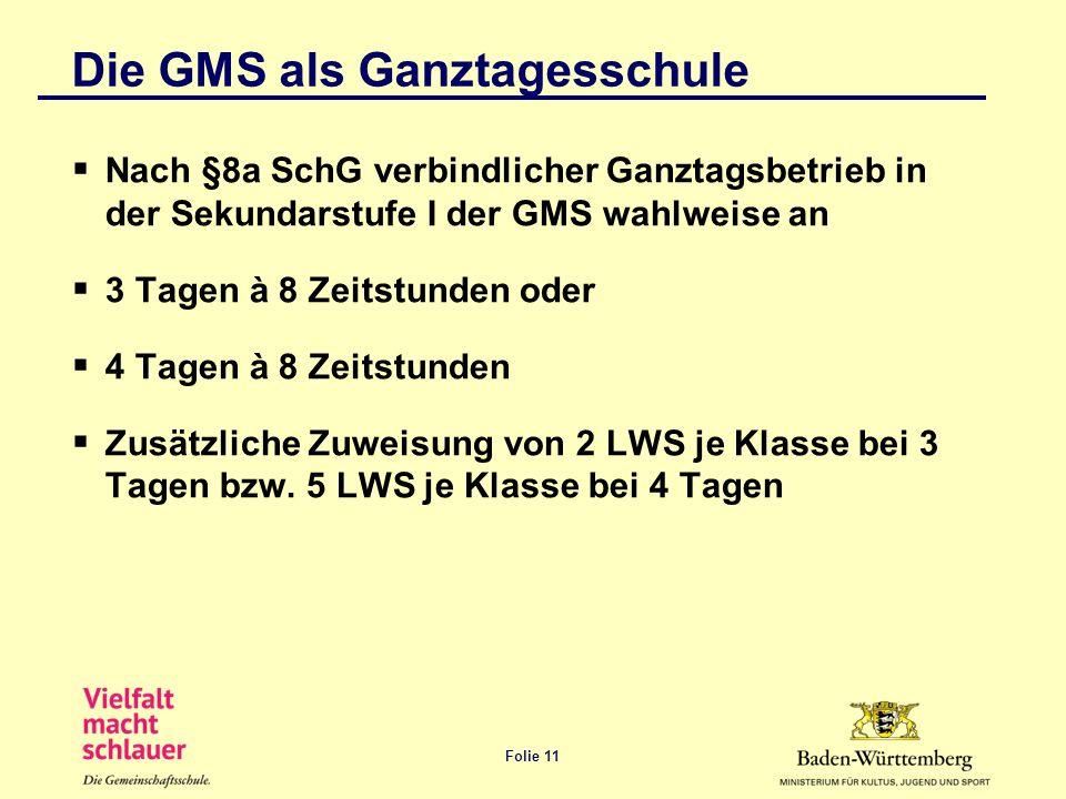 Die GMS als Ganztagesschule